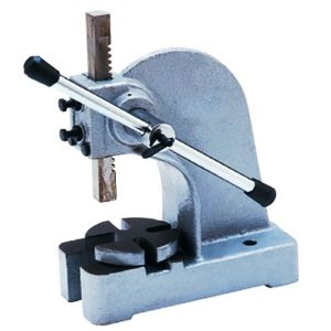 AP1ton -- Arbor press with 2,000 pound (908 kg weight) force - heavy duty use for many pressing situations, rack and pinion drive, adjustable gibbs
