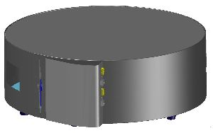 DVD360 storage product- 1 carousel stores 360 DVDs - automatic storage and retrieval of 360 DVD's in compact unit