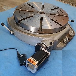 Mrt24 86 156 24 inch motorized rotary table with x86 for Cnc rotary table with stepper motor