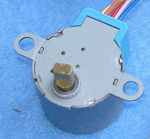 SGM35-20-85 -- small gear motor, 35mm dia. x 20. 85.25:1 - Stepper gear motor with the following specifications:  35mm dia. x 20. 85.25:1