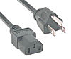 AC power cord UL heavy duty 3 wires 6 ft long