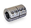 Shaft coupler Quad .75-.75 ID x 1.50 OD x 2.25